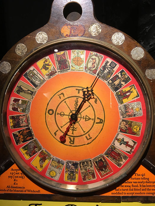 Wheel of fortune at The Museum of Witchcraft and Magic