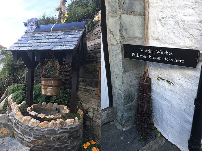 Broomstick parking at The Museum of Witchcraft and Magic