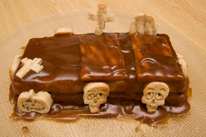 Recipes for Halloween - Graveyard cake