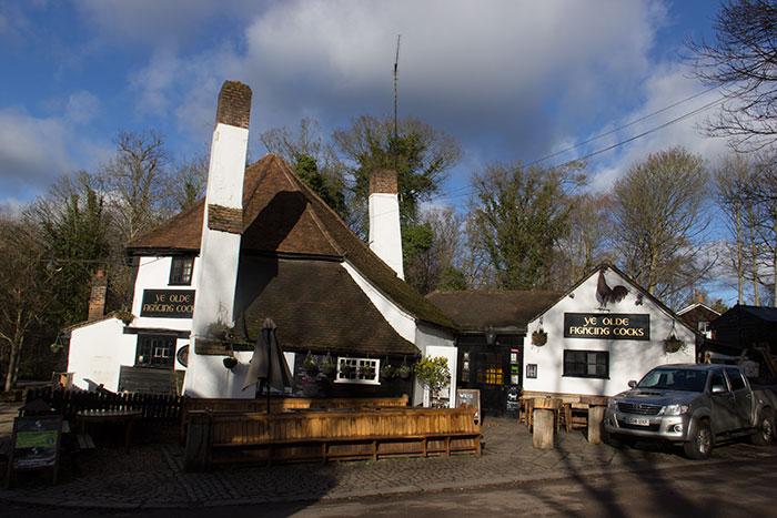 Ye Olde Fighting Cocks. Oldest pub in England