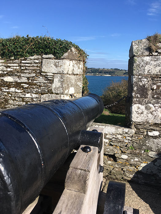 Gun at Pendennis Castle