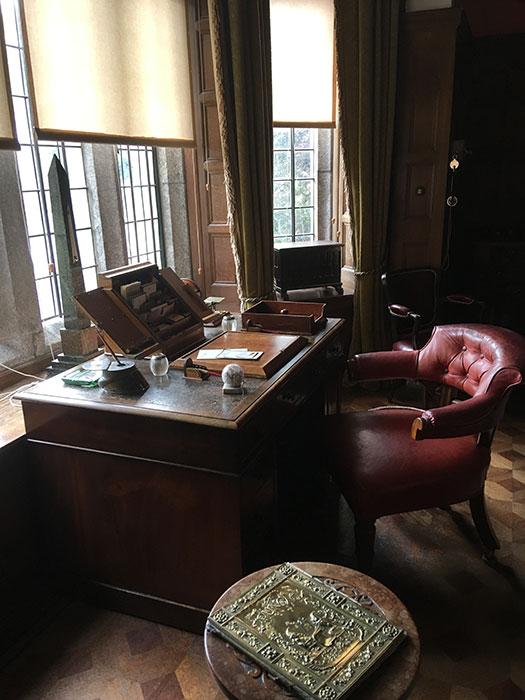 Desk at Lanhydrock