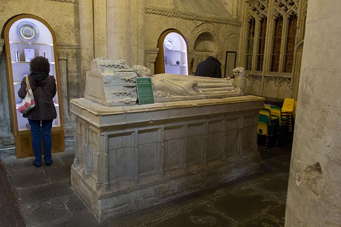 Malmesbury Abbey. Athelstan's tomb