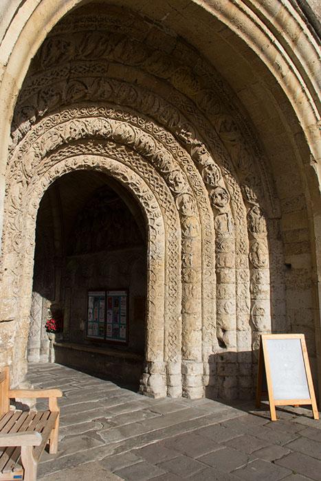Malmesbury Abbey. Entrance