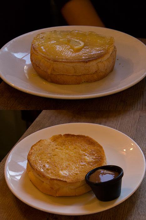 Sally Lunn's. Two buns for dessert