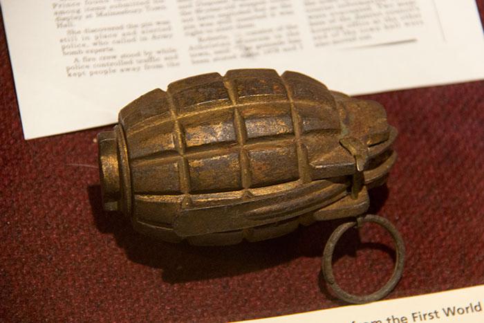 Grenade at Athelstan Museum in Malmesbury