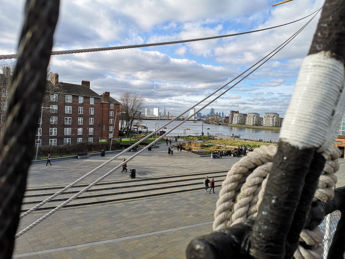 View of London from Cutty Sark
