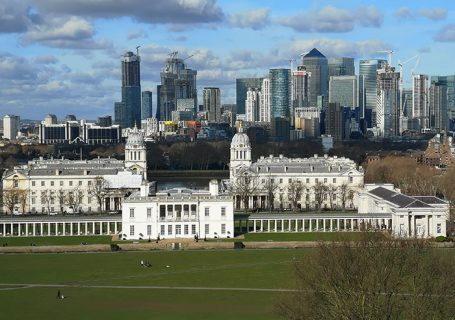 Queen's House, view from the Royal Observatory