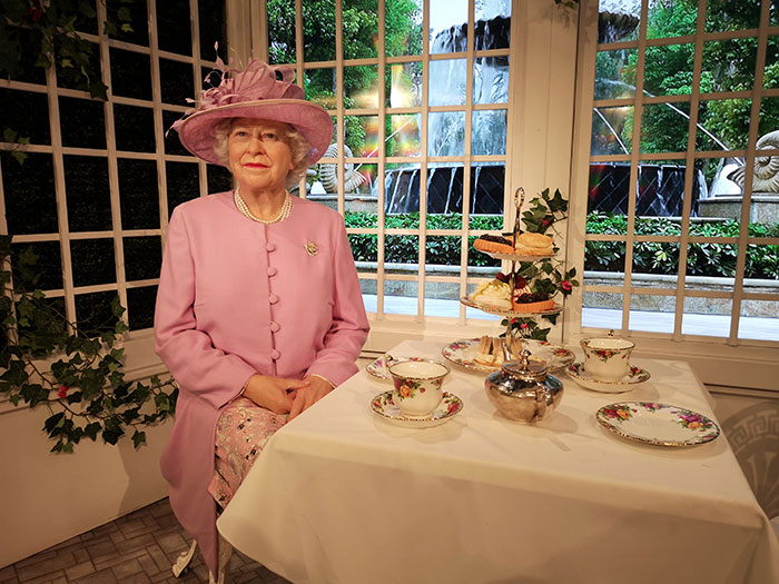 Tea with the Queen at Madame Tussauds