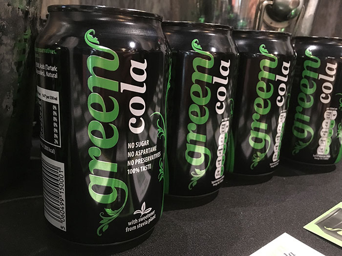 BlogOn - Green Cola display