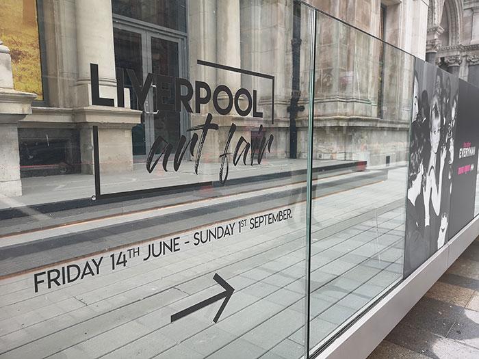 Liverpool Art Fair at Metquarter sign