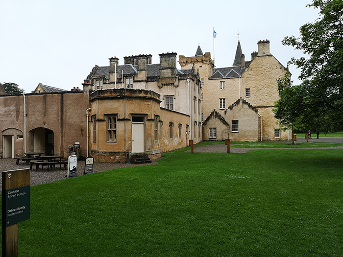 Brodie Castle, from another side