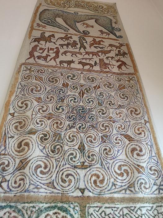 Carpet on display at Groam House Museum