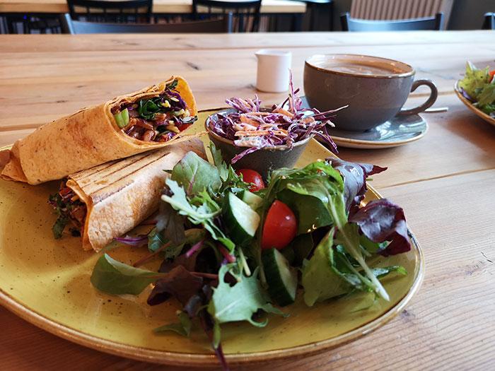 Clink Cafe. Manchester. Wrap