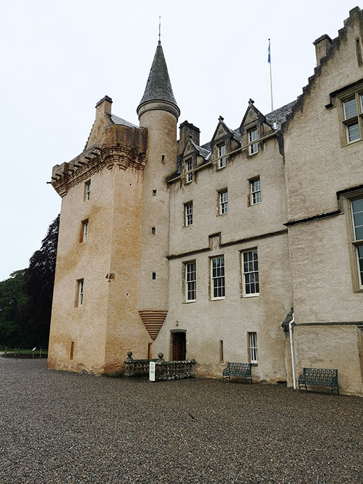 Detail with tower of Brodie Castle