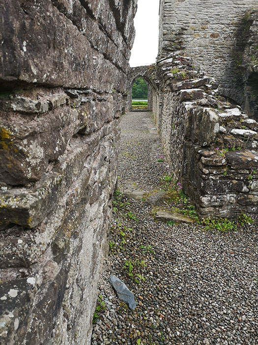 Inchmahome Priory, ruins of the walls and passages