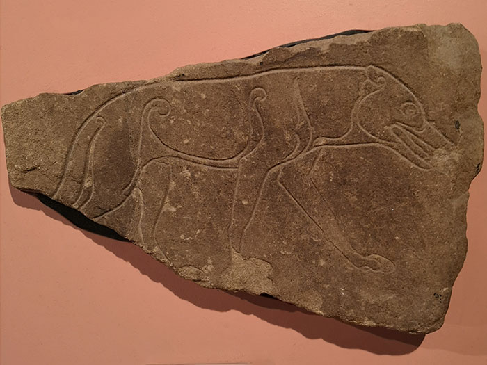 Pictish stone at Inverness Museum and Art Gallery