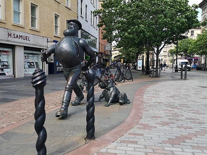 Desperate Dan Statue in Dundee