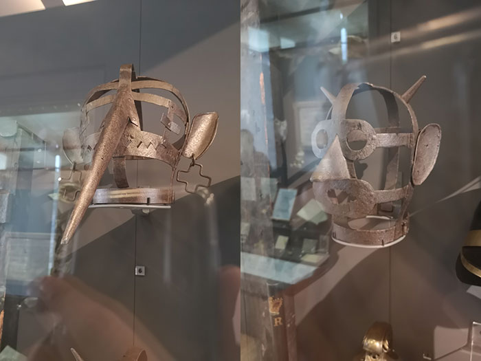 Masks on display at the McManus Museum, Dundee