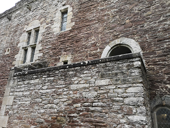 Doune Castle. Entrance into the Hall