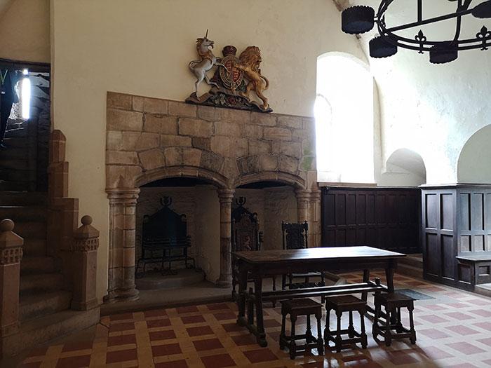 Doune Castle. Room