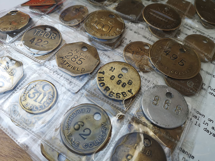 Dog tags used by miners