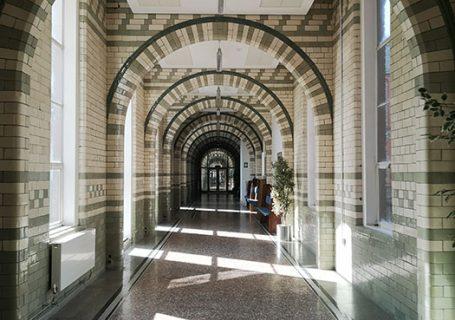 Corridor in the infirmary