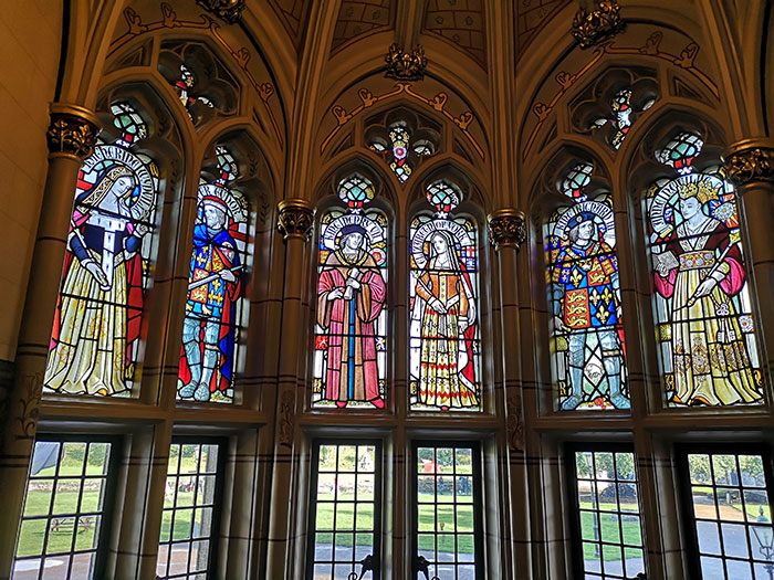 Stained glass at the Cardiff Castle