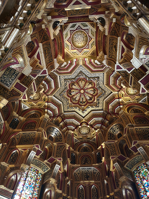 Ceiling of the Arab room