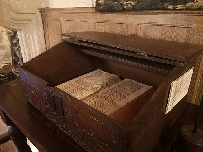 Bible box at Michelham Priory