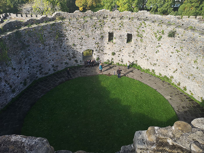 View of the interior courtyard of the castle