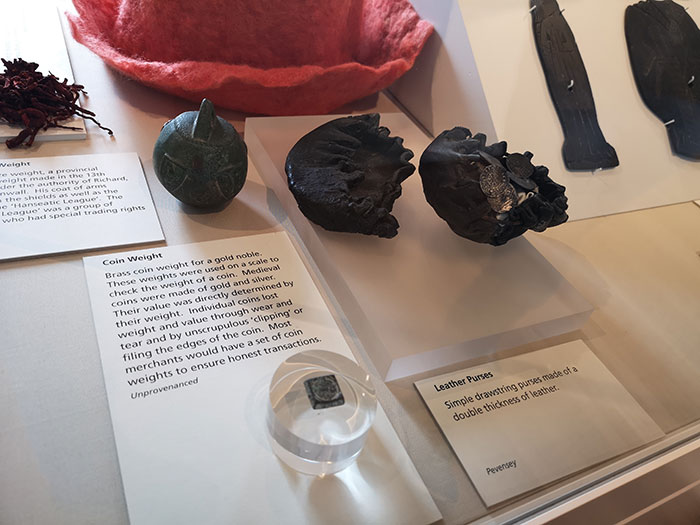 Coin purse on display