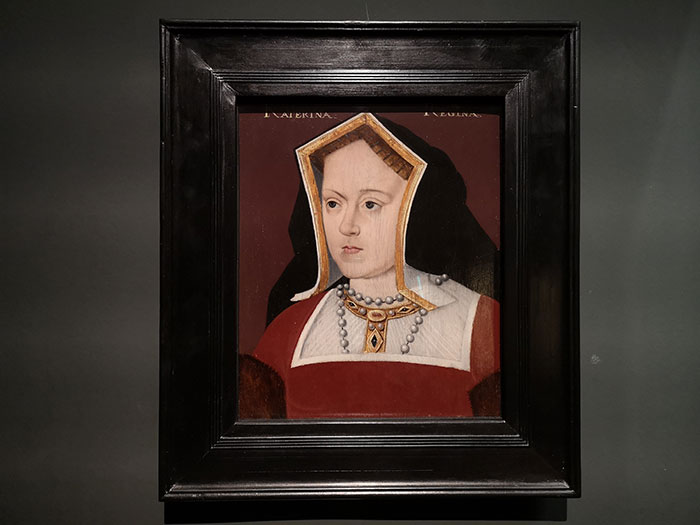 Exhibit at National Museum of Cardiff. Painting of Catherine of Aragon