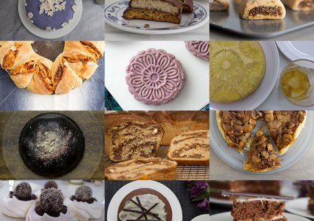 Collage of the bakes I made for GBBO bake along