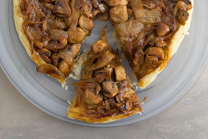 Week 8 - Mushrooms and Onions Tarte Tatin