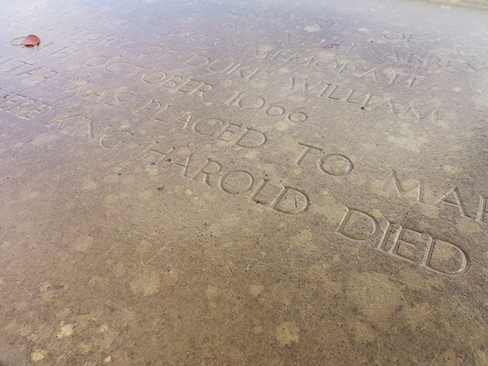 1066 Battlefield. Place where Harold died