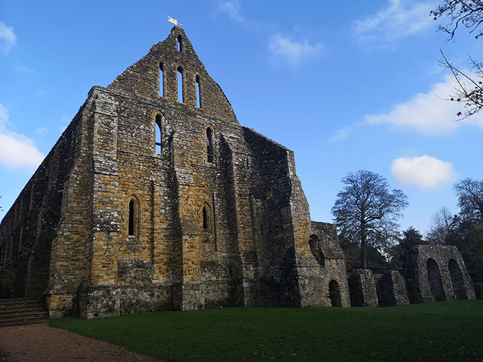 Battle Abbey, built by William after the victory on the 1066 battlefield