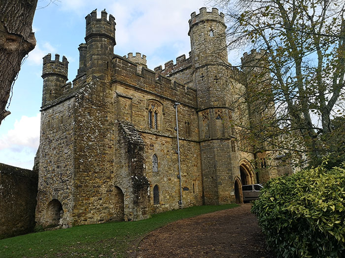 Gatehouse to the abbey on the 1066 Battlefield