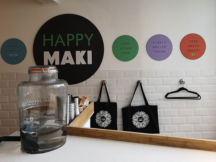 Happy Maki. Vegan eatery