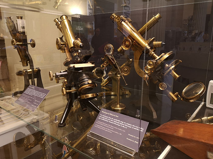 Microscopes on display at History of Science Museum