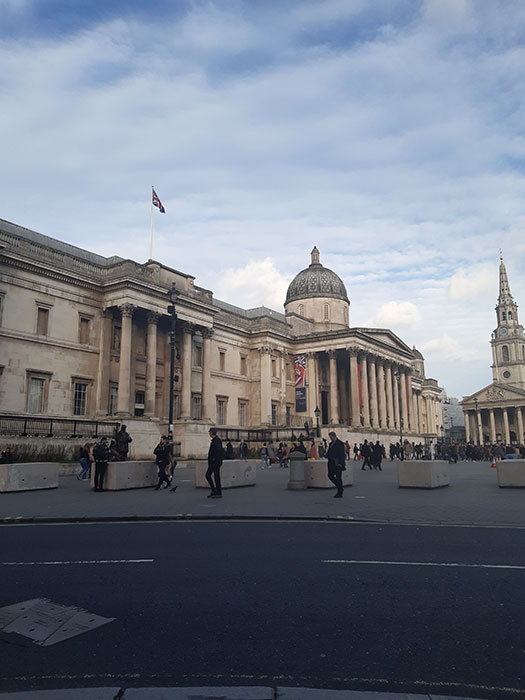 National Gallery. Outside