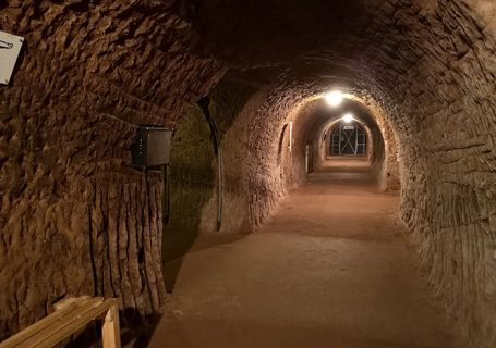 Stockport Air Raid Shelters. Inside the tunnels
