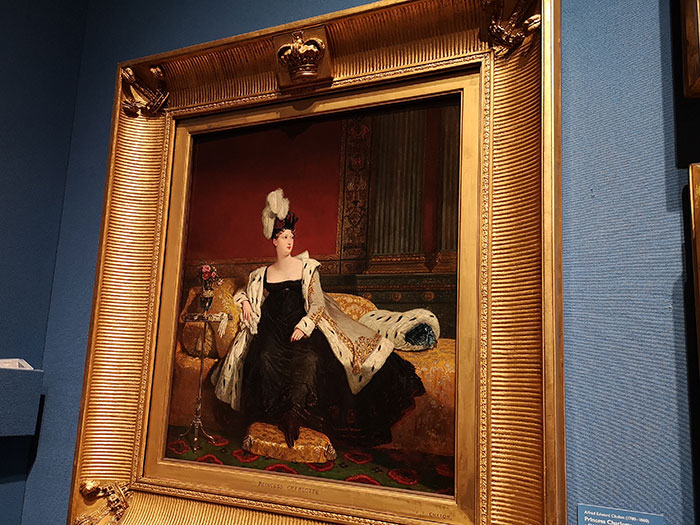 Painting of Princess Charlotte at Queen's Gallery at Buckingham Palace