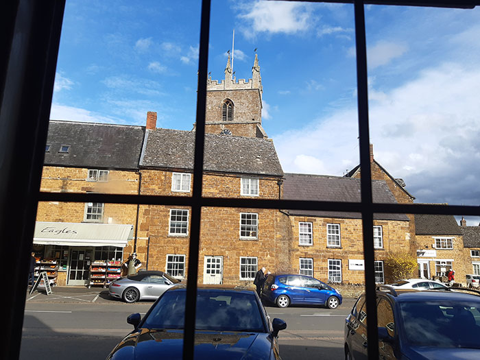 Red Lion Inn Deddington. View from our window