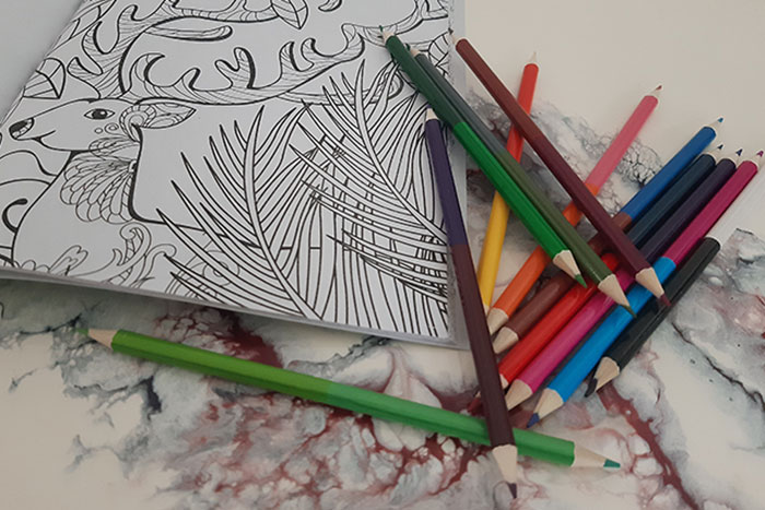 Self-isolating. Activities for Adults. colouring book