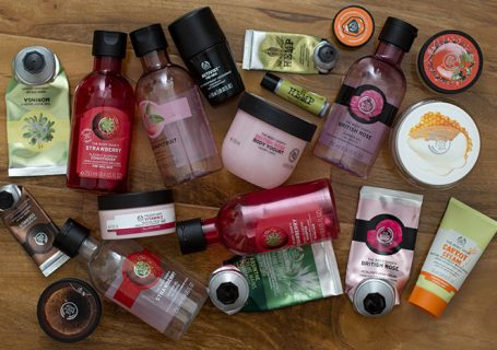 Empties from the Body Shop