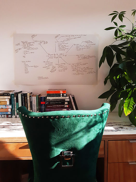 my office, ready for study