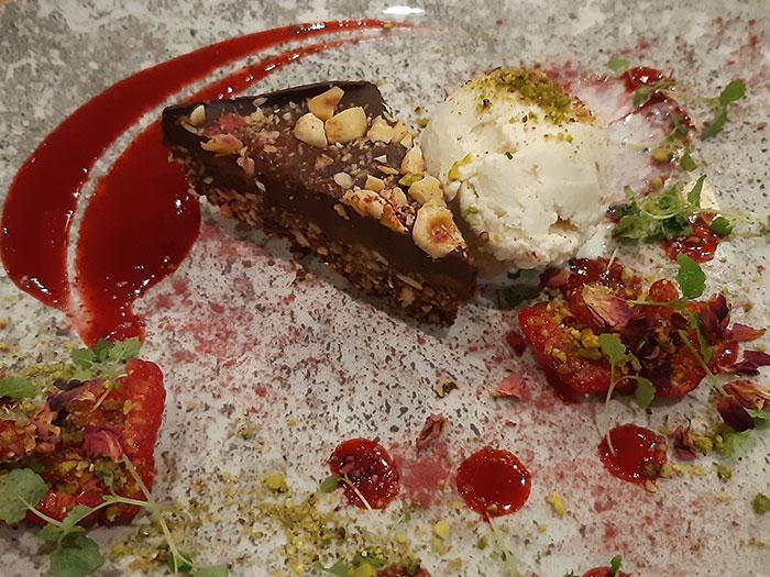 Allotment Vegan Eatery - Hazelnut slice