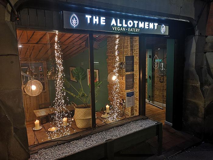 Allotment Vegan Eatery - Outside