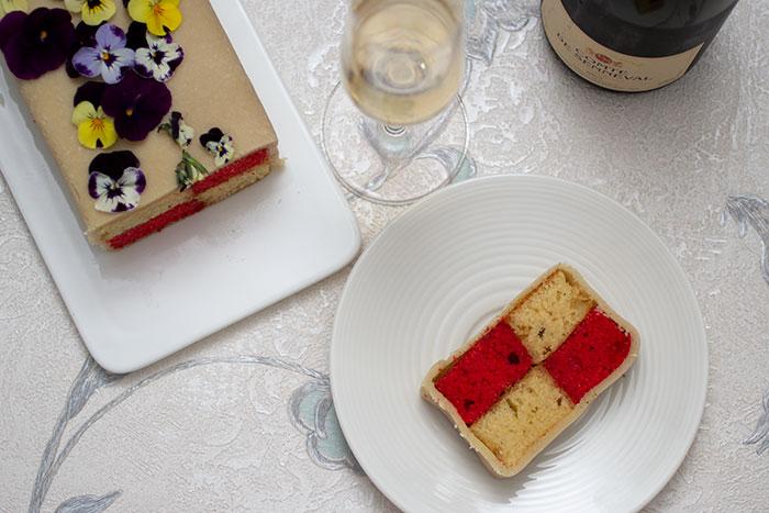Week 1 - Cake - Strawberries and Champagne Battenberg